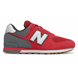 Zapatillas New Balance GC574ATG rojo/gris junior