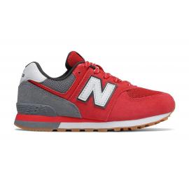 Zapatillas New Balance PC574ATG rojo/gris niño