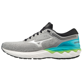 Zapatillas running Mizuno Wave Skyrise gris/azul mujer