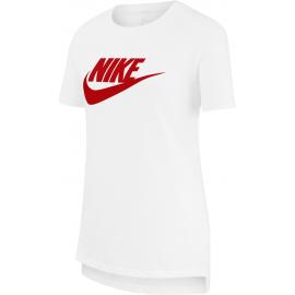 Camiseta Nike Sportwear Basic Futura blanco/rojo junior