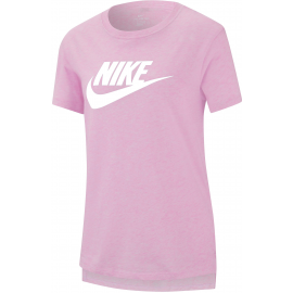 Camiseta Nike Sportwear Basic Futura rosa/blanco junior