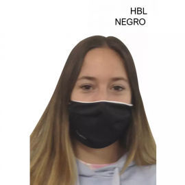 Mascarilla protectora reutilizable Eme negro Junior