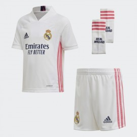 Conjunto Adidas Real Madrid 20/21 blanco rosa junior