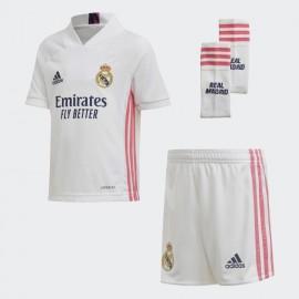 Conjunto Adidas Real Madrid 20-21 blanco rosa junior