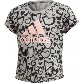 Camiseta Adidas G MH Gra Tee junior gris