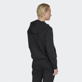 Sudadera con Capucha Adidas Stacked FZ Hoodie negra mujer