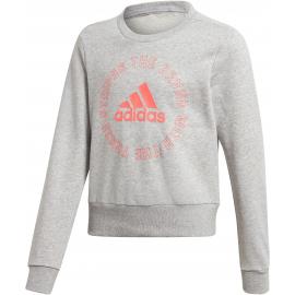 Sudadera Adidas Bold Crew unisex junior gris