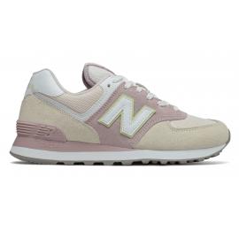 Zapatillas New Balance WL574LBL beige/rosa mujer