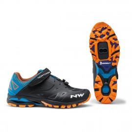 Zapatillas Northwave Spider 2 negro-azul-naranja Mtb hombre
