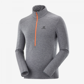 Jersey Salomon Outline HZ 1/2 Zip gris hombre