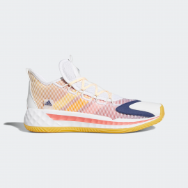Zapatillas basket adidas Pro Boost Low blanco/naranja hombre