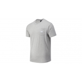 Camiseta New Balance Athletics Pocket gris hombre