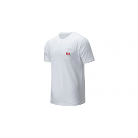 Camiseta New Balance Athletics Pocket blanco hombre