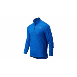 Camiseta running New Balance Tenacity Quarter Zip royal homb