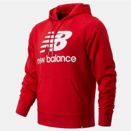 Sudadera New Balance Essentials Logo rojo hombre
