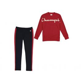 Chándal Champion Cuello Redondo rojo/marino niña