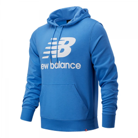Sudadera New Balance Essentials Stacked Logo royal hombre