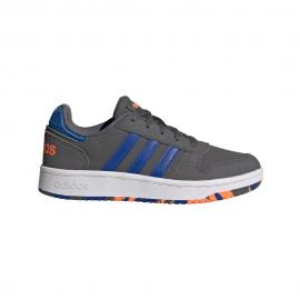 Zapatillas adidas Hoops 2.0 K gris/azul junior