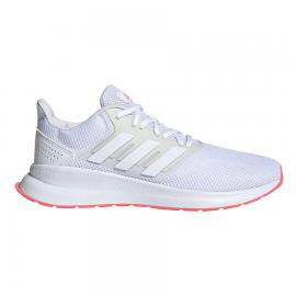 Zapatillas adidas Runfalcon blanco/gris mujer