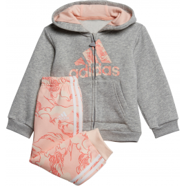Chándal adidas Logo FZ HD gris/coral bebé