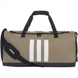 Bolsa deporte adidas 3 Stripes M kaki/blanco