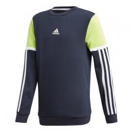 Sudadera adidas Bold Crew azul/blanco/lima junior