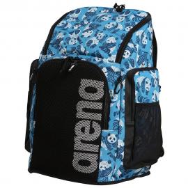 Mochila Arena Team Backpack Allover 45L pandas azul