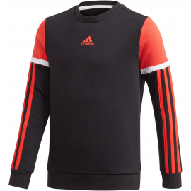 Sudadera adidas Bold Crew negro/naranja junior