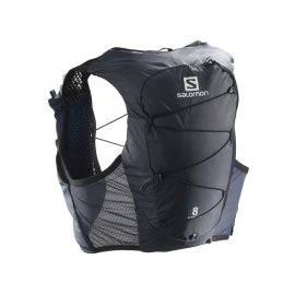 Mochila trail Salomon Active Skin 8 Set gris/negro