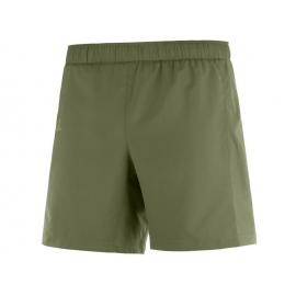 Pantalon trail running Salomon Agile 2en1 verde hombre