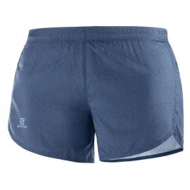 Pantalon trai running Salomon Agile Short azul mujer