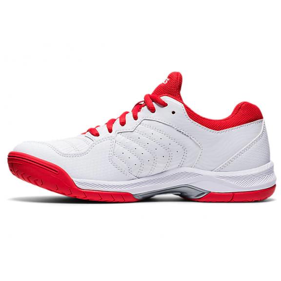 Zapatillas tenis Asics Gel-Dedicate 6 blanco/rojo mujer