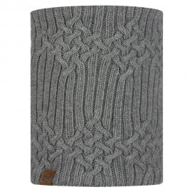 Bufanda de lana New Helle gris claro unisex