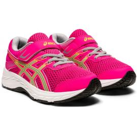 Zapatillas running Asics Contend 6 rosa/gris niña