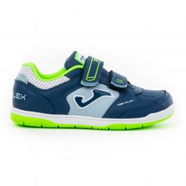 Zapatillas fútbol sala Joma Top Flex 2043 azul/verde niño