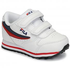 Zapatillas Fila Orbit Velcro blanco infants