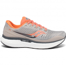 Zapatillas Running Saucony Triumph 18 gris/coral mujer