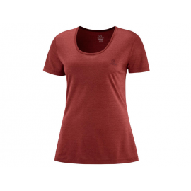 Camiseta trail running Salomon Agile Ss Tee rojo mujer
