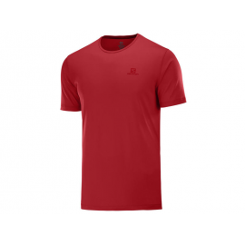 Camiseta trailrunning Salomon Agile Training Tee rojo hombre