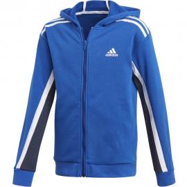 Sudadera adidas Bold Fleece Hoodded azul/blanco junior