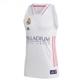 Camiseta baloncesto adidas Real Madrid 2020-21 blanco hombre