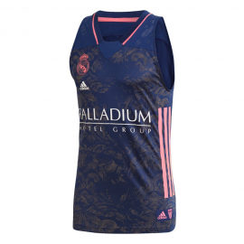 Camiseta baloncesto adidas Real Madrid 2020-21 azul hombre