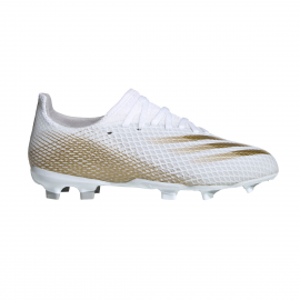 Zapatillas fútbol adidas X Ghosted .3 FG blanco/oro junior