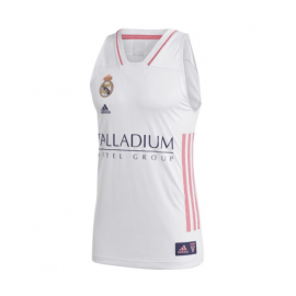 Camiseta baloncesto adidas Real Madrid 2020-21 blanco junior