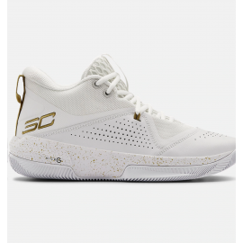 Zapatillas baloncesto Under Armour SC 3Zero IV blanco unisex