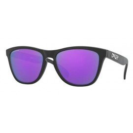 Gafas Oakley Frogskins negro mate lentes prizm violeta