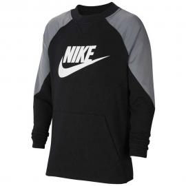 Sudadera Nike Sportwear negro/gris/blanco junior