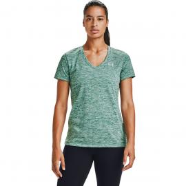 Camiseta Under Armour Tech Twist verde difuminado mujer