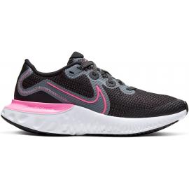 Zapatillas running Nike Renew Run negro/rosa junior