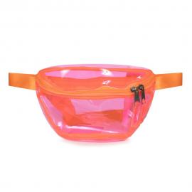 Riñonera Eastpak Springer Transparente +  Naranja Fluor